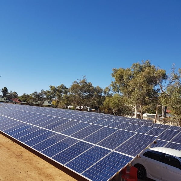 Alice Spring Ground mount commercial Solar Installation