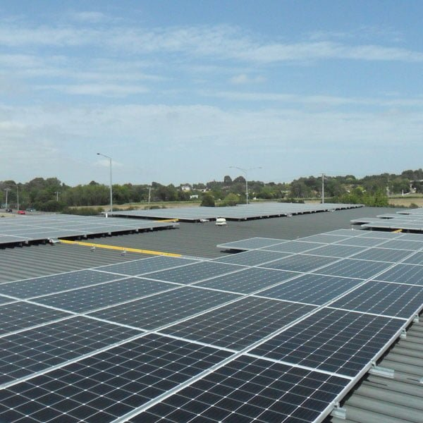 99.6 kW solar energy system installed by Essential Solar for Casey Aged Care