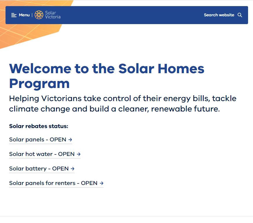 Solar Victoria Rebate