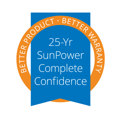 SunPower 25 year Warranty Seal