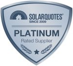 SolarQuotes Platinum rated Suppler